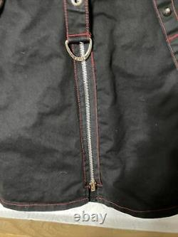 Daang Goodman For Tripp NYC 2XL Black Chain Grunge skirt maxi steampunk Goth