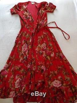 Denim Supply Ralph Lauren Women Romantic Floral Wrap Gauge Maxi Long Skirt Dress