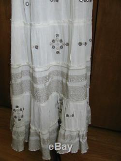 Denim & Supply Ralph Lauren Women's Ivory Long Cotton Viscose Skirt S L XL NWT
