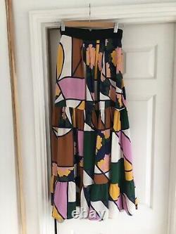 Designer ROKSANDA silk summer midi maxi skirt Size 6 Beautiful, Net A Porter