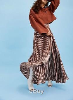 Diane von Furstenberg Polka Dot Silk Maxi Skirt