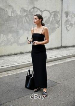 Dion Lee Column Black Crepe Silk Long Maxi Split Top Skirt Dress Sz 6 Xs