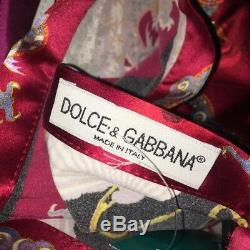 Dolce & Gabbana, Chinese Dragon, Silk Blend, Straight Maxi, Skirt 40