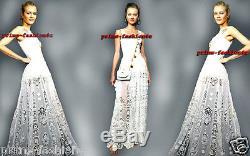 Dolce & Gabbana White MACRAMÉ EMBROIDERY Lace long skirt