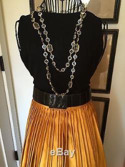 Donna Karan Black Label Satin Silk Maxi Skirt Wedding Christmas Size 2/4