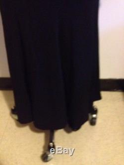 Donna Karan Black Label Wool Crepe Trumpet Long Maxi Skirt Sz 6