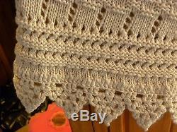 Double D Ranch Heavy Linen/cotton Crocheted Knit Skirt XL For Tall Woman