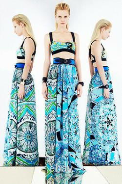 EMILIO PUCCI Runway Multicoloured Silk Gown dress-y skirt IT 40, US4-6, UK 8, XS-S