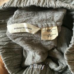 EUC Elizabeth Suzann Linen Gauze Bel Skirt in size XS Short, Light Grey