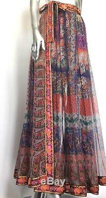 Etro Silk Print Maxi Wrap Skirt NWT! Retail Value $997