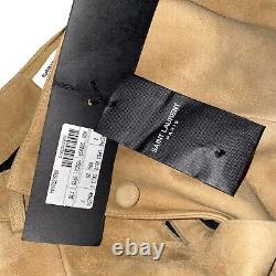 Extra Rare Yves Saint Laurent Cowboy Leather Maxi Women's Skirt / Size 38 Bnwt