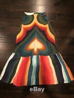 FARM RIO NWT Rainbow Stripe Maxi Skirt
