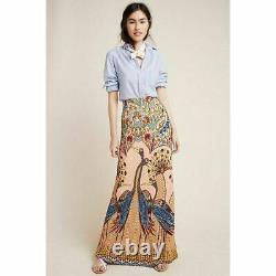 Farm Rio Maxi Pencil Skirt Peacock Design Size Large Nwt $140