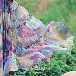 Fashion Womens Girl Prom Gown Beach Princess Skirt A Line Long Maxi Tulle Dress