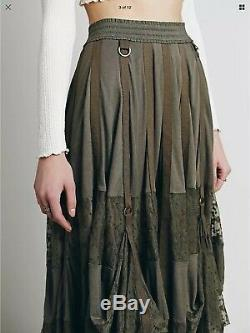 Free People Adjust Skirt S Boho Hippie Rare Magnolia Pearl Style Lace