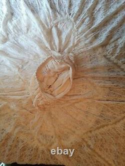 Free People Annie Oakley Lace Ivory Prairie Victorian Maxi Skirt Small Rare