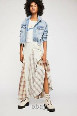 Free People CP Shades Patchwork Maxi Skirt Size XS