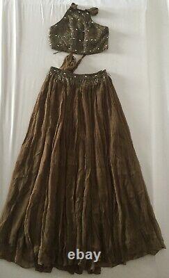 Free People Dew Drop Embellished Maxi Skirt Set Size 6 New