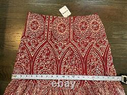 Free People Jen's Pirate Booty calypso maxi skirt eyelet red M NWT orig$264