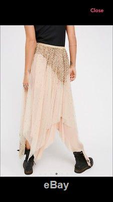 Free People Lace bling bling Maxi Skirt size Xs