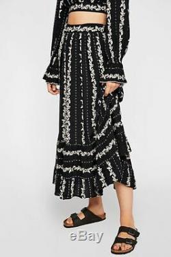 Free People NWT Size XS Lolita 2 pc Maxi Skirt Top Set NEW