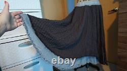 Free People Plaid Maxi Skirt Size M New! Rare