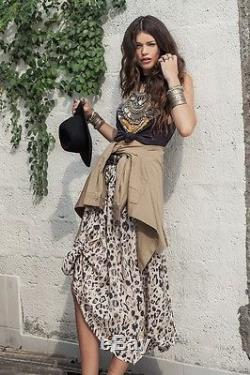Free People Spell Gypsy Wild Ones Knotted Maxi Skirt Design Collective XS Rare