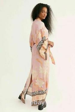 Free People Spell & The Gypsy Cherry Blossom Kimono Skirt Set Large NEW $268