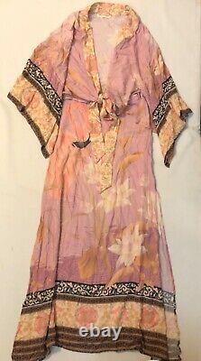 Free People Spell & The Gypsy Cherry Blossom Kimono Skirt Set Size XS