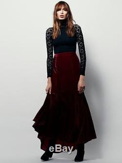 Free People X Curtain Velvet Maxi Skirt-Perfect Holiday Skirt