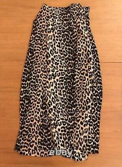 GANNI Silk Leopard Skirt Size 38