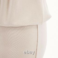 GIVENCHY TISCI beige nude viscose loose tshirt maxi skirt design dress gown FR38