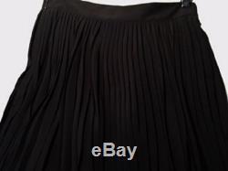 GUCCI Black Silk Crepe Pleated Maxi Midi Skirt IT 42 US 6 UK 10