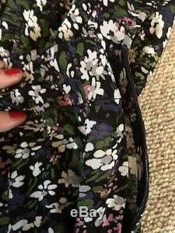 Ganni Printed Maxi Georgette Skirt Size 38/10