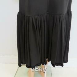 Givenchy Black Jersey Ruffle Hem Asymmetric Front Slit Long Skirt Sz 44 $2,350