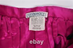Givenchy Nouvelle Boutique Vintage Maxi Skirt Velvet-Trim Fuchsia Satin Size 38