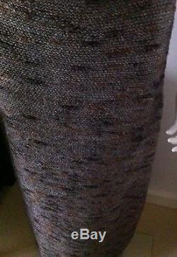 Gorgeous CHANEL full lenght maxi gray brown purple wool skirt