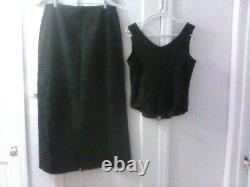 Gothic Vintage 2 Piece Skirt and Matching Corset Top