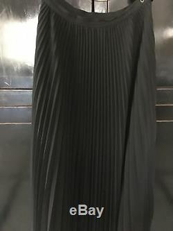 Great Jean Paul Gaultier long maxi black wool plissé skirt