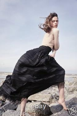 H&m Conscious Exclusive Collection 2016 Silk Linen Long Skirt Uk 8 36 Us 4 Small