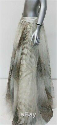 H&M Conscious Exclusive Maxi Skirt Printed Linen-Silk Size 12 NEW