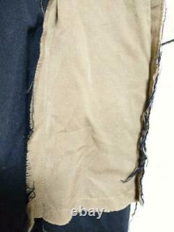 H. NAOTO Women's Design Long Skirt Gothic Navy x Beige khaki