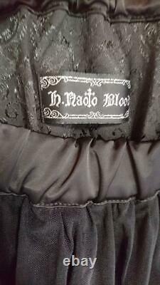H. NAOTO Women's Long Skirt Frill Gothic Lolita