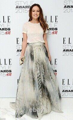 H&m Conscious Exclusive 2015 Silk-blend Skirt Eur 36 Us 6 Very Rare