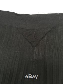 HAIDER ACKERMANN Skirt 34 2 Black Long Satin Pleated Maxi Runway Designer
