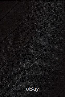 HERVE LEGER Jayde Signature Bandage Maxi Skirt in Black Size XS MSRP $1,140