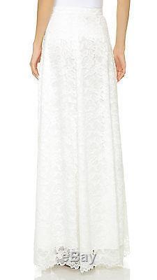 Haute Hippie High-Waist Rosette Lace Maxi Skirt Small NWT $755