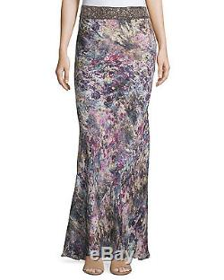 Haute Hippie Marianne Embellished Maxi Skirt, Swan/Multi $695 Size XS