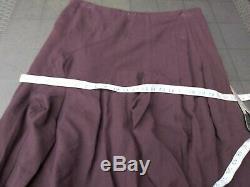 ISCHIKO Oska plum Lagenlook Long maxi midi wool Skirt size 18 steampunk