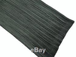 ISSEY MIYAKE 2-Way Long Skirt Strapless Maxi Dress Accordion Pleats Black Size M
